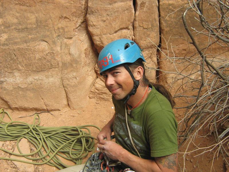 Rock Climbing Photo: tying in