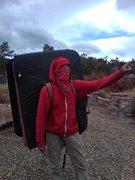Rock Climbing Photo: Elk saddle/bed/pro for pebble pusher's