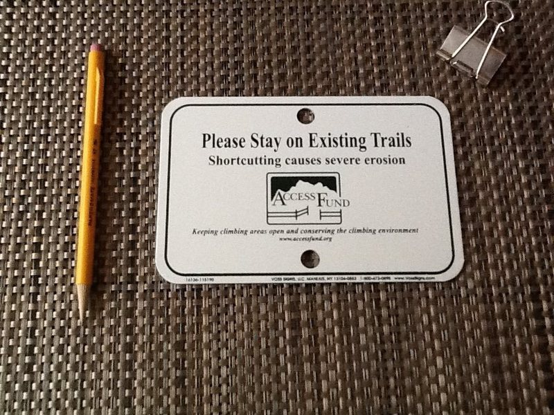 New signage for the McDowell's climber trails
