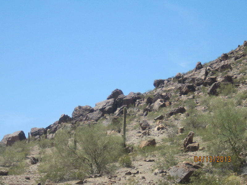 Lots of boulders a little further past (west) the cluster...I didn't check these out
