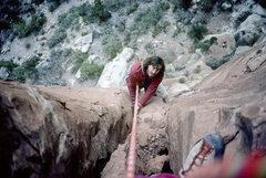 Rock Climbing Photo: Derek Hersey, Texas Tower, pitch 2.