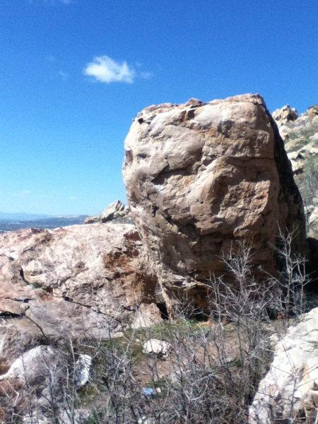 Rock Climbing Photo: Golden climbs the right arete