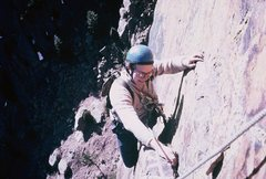 Rock Climbing Photo: Rodger Raubach following pitch 3 of Super Slab; No...