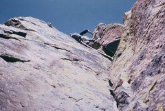 Rock Climbing Photo: Bob Culp on the dihedral pitch, Super Slab; Novemb...