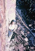 Rock Climbing Photo: Rodger, belaying at the second belay stance. Novem...