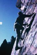 Rock Climbing Photo: Bob moving up on pitch 4.