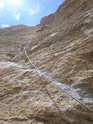 Rock Climbing Photo: On Belay, Pitch 4 of Zebra Zion.