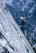 Rock Climbing Photo: Last pitch of Dirty Deed. Spring, 1967.