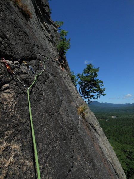 Rock Climbing Photo: Thin Air, Cathedral Ledge
