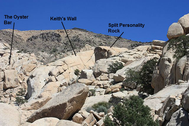 Rock Climbing Photo: Keith's Wall and surroundings from Target Rock, Jo...