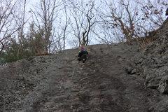 Rock Climbing Photo: Kristen finishing a TR on Bolt Line - Loving the s...
