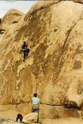 Rock Climbing Photo: Emil, making good progress.