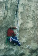Rock Climbing Photo: Gary, getting started with the tip locks.