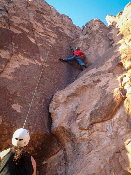 Rock Climbing Photo: Eugene on his favorite climb