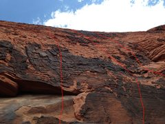 """Rock Climbing Photo: Routes in Upper Tier - left to right - """"To Gr..."""
