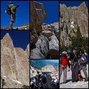 Rock Climbing Photo: lone peak via open book 5.7+