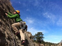 Rock Climbing Photo: Clint Casey on the upper hand crack.