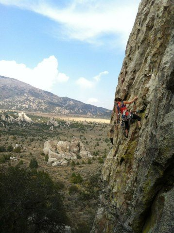 Rock Climbing Photo: Crack House - Castle Rocks