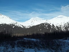 A view across Portage valley from Five Fingers.  Easy approach, many climbs, incredible valley.