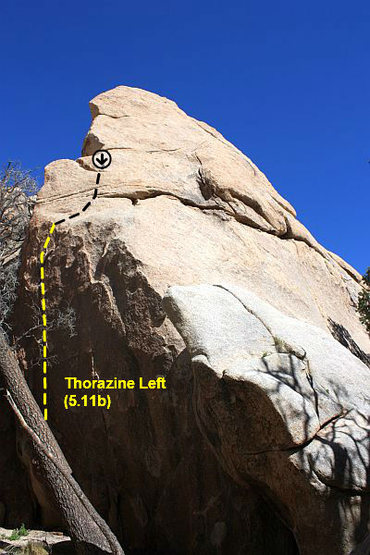 Rock Climbing Photo: Thorazine Left (5.11b), Joshua Tree NP