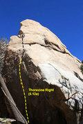 Rock Climbing Photo: Thorazine Right (5.12a), Joshua Tree NP