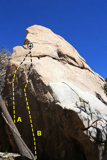 Rock Climbing Photo: Scary Rock (North Face), Joshua Tree NP  A. Thoraz...