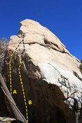 Rock Climbing Photo: Scary Rock (North Face), Joshua Tree NP  A. Thoraz...