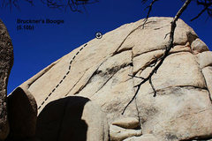 Rock Climbing Photo: Bruckner's Boogie (5.10b), Joshua Tree NP