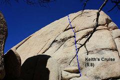 Rock Climbing Photo: Keith's Cruise (5.8), Joshua Tree NP