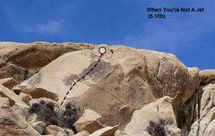 Rock Climbing Photo: When You're Not A Jet (5.10b), Joshua Tree NP