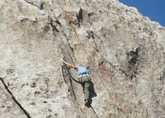 Rock Climbing Photo: High on Flake Route, nearing the summit of Indian ...