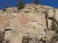 Rock Climbing Photo: RC 3 of 5 (3)Fell down (4)Gazelle .10c (5)Trim the...