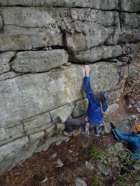 Rock Climbing Photo: After trying to make the move statically, Dana fin...