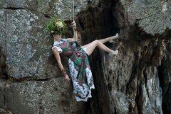 Rock Climbing Photo: Fashion on Crowders Mountain