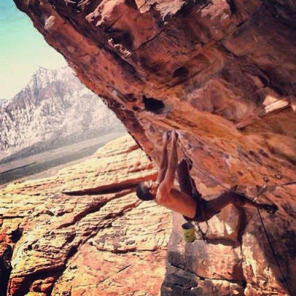 Rock Climbing Photo: Money at First Pullout Red Rocks NV Mostafa Noori