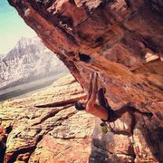 Rock Climbing Photo: Money at First Pullout Red Rocks NV Mostafa Noori