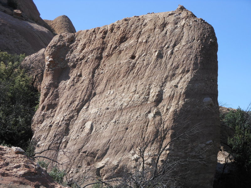 The north face of Briscoe County Boulder.
