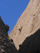 "Rock Climbing Photo: Nearing the anchors on ""Before the Storm.&quo..."
