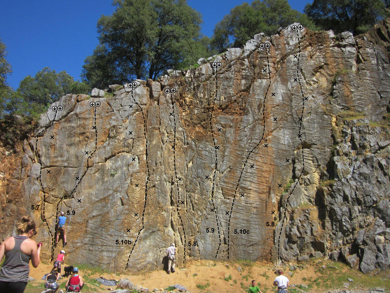 scale wall topo<br> https://www.facebook.com/AuburnCliffsClimbing