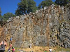 Rock Climbing Photo: scale wall topo facebook.com/AuburnCliffsClimb...