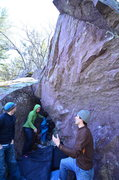 Rock Climbing Photo: Green Fire starts on the left arete and trends rig...