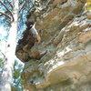 Hometown climbing at Sandrock, AL