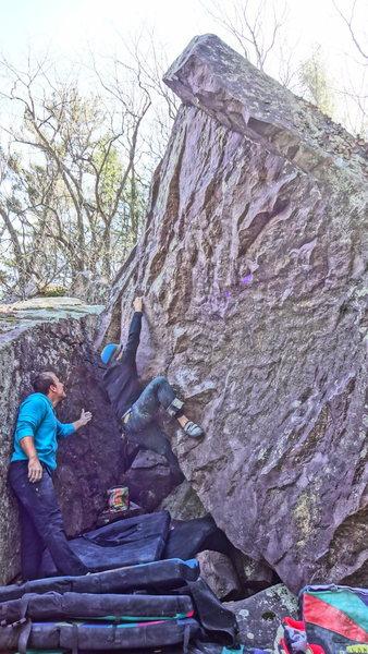 Rock Climbing Photo: The Gentleman hitting the first crimp. Photo: Kate...