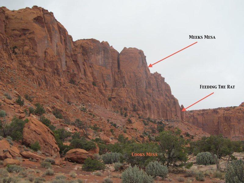 Rock Climbing Photo: Location of Feeding the Rat.  This is taken near w...