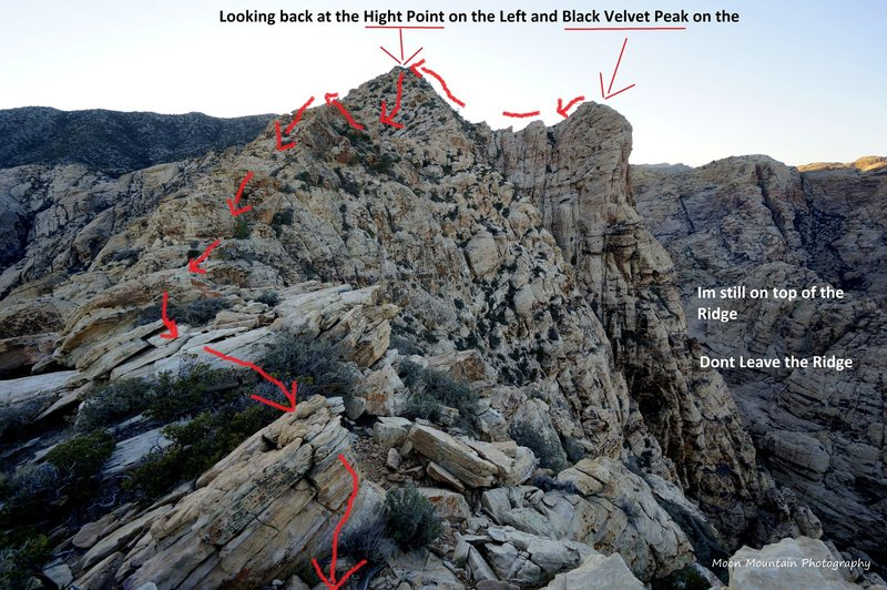 Rock Climbing Photo: The descent from Black Velvet Peak