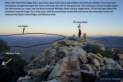 Rock Climbing Photo: The descent from Black Velvet Peak