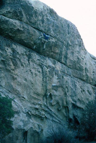 Rock Climbing Photo: Gary finishing the climb.