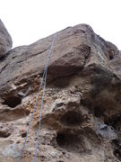 Rock Climbing Photo: Undercling the roof to sustained face climbing. Wa...