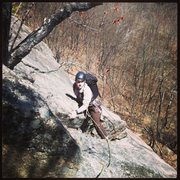 Rock Climbing Photo: Bartram on the end of P2