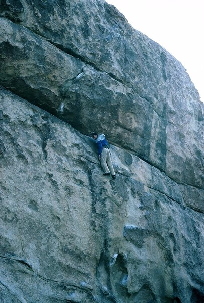 Rock Climbing Photo: Getting to a not very restful rest stance.